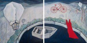 GemmaGarman - Tracy paintings- diptych